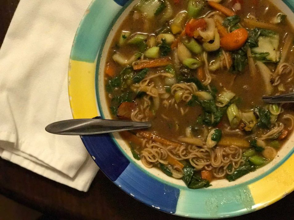 Spicy Asian Noodle Soup