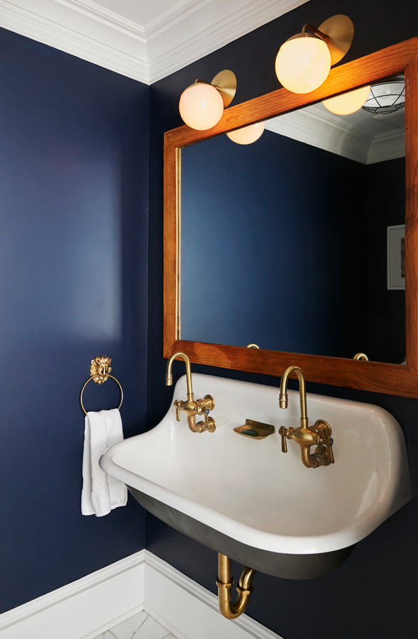 It's all about that brass. Alexis wanted brass faucets but they only came in chrome. That didn't stop her!